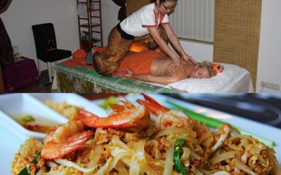 La différence entre un massage thai et un pad thai